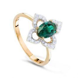 Кольцо с изумрудами и бриллиантами из розового золота VALTERA 73715