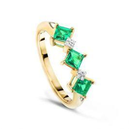 Кольцо с изумрудами и бриллиантами из розового золота VALTERA 48809