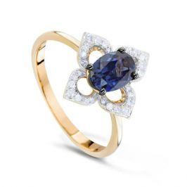 Кольцо с сапфирами и бриллиантами из розового золота VALTERA 73763