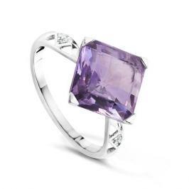 Кольцо с аметистами и бриллиантами из белого золота VALTERA 64051