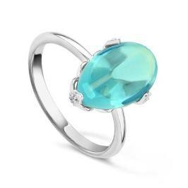 Кольцо с бриллиантами и топазами из белого золота VALTERA 44686