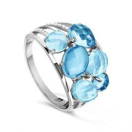 Кольцо с бриллиантами и топазами из белого золота VALTERA 55821