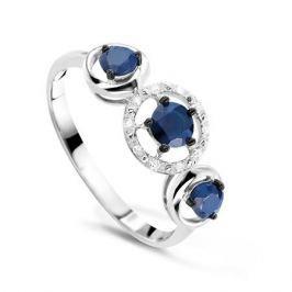 Кольцо с сапфирами и бриллиантами из белого золота VALTERA 54747