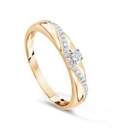 Кольцо с бриллиантами из розового золота VALTERA 74724