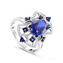 Кольцо с сапфирами и бриллиантами из белого золота VALTERA 70018