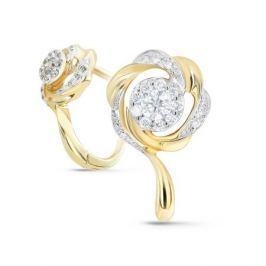 Серьги с бриллиантами из желтого золота VALTERA 72820