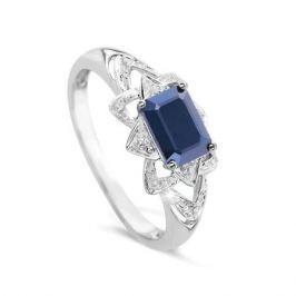 Кольцо с сапфирами и бриллиантами из белого золота VALTERA 48708