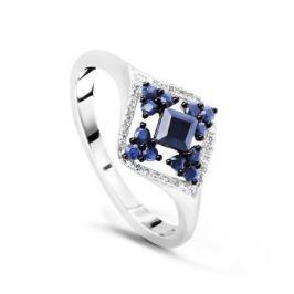 Кольцо с сапфирами и бриллиантами из белого золота VALTERA 48806