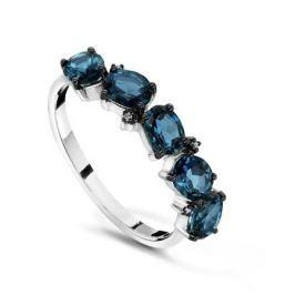 Кольцо с бриллиантами и топазами из белого золота VALTERA 54695