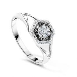 Кольцо с бриллиантами из белого золота VALTERA 54263