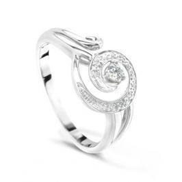 Кольцо с бриллиантами из белого золота VALTERA 51468
