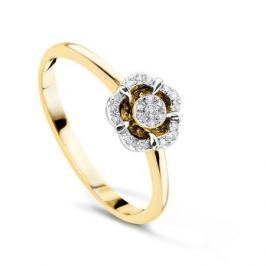 Кольцо с бриллиантами из желтого золота VALTERA 54081