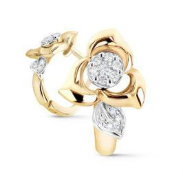 Серьги с бриллиантами из желтого золота VALTERA 53948