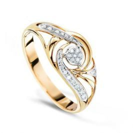 Кольцо с бриллиантами из розового золота VALTERA 67719