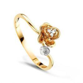 Кольцо с бриллиантами из розового золота VALTERA 58008