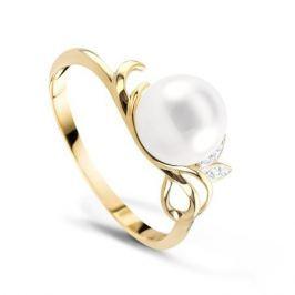 Кольцо с жемчугом и бриллиантами из розового золота VALTERA 68476