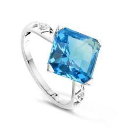 Кольцо с бриллиантами и топазами из белого золота VALTERA 64053