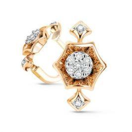 Серьги с бриллиантами из розового золота VALTERA 54059