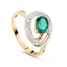 Кольцо с изумрудами и бриллиантами из розового золота VALTERA 49549