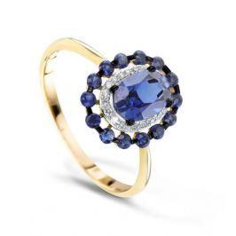 Кольцо с сапфирами и бриллиантами из розового золота VALTERA 68775