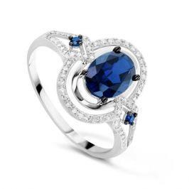 Кольцо с сапфирами и бриллиантами из белого золота VALTERA 75869