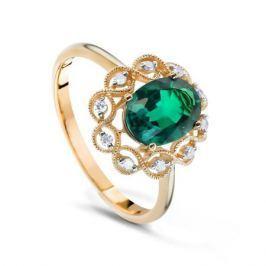 Кольцо с изумрудами и бриллиантами из розового золота VALTERA 65778