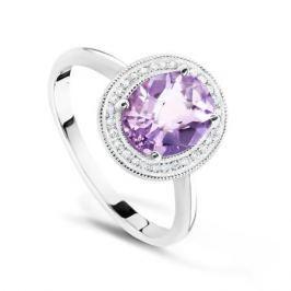 Кольцо с аметистами и бриллиантами из белого золота VALTERA 62480
