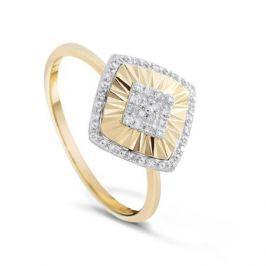 Кольцо с бриллиантами из желтого золота VALTERA 84040