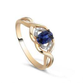 Кольцо с сапфирами и бриллиантами из розового золота VALTERA 82384