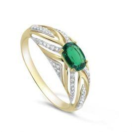 Кольцо с изумрудами и бриллиантами из желтого золота VALTERA 82379
