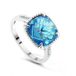 Кольцо с бриллиантами и топазами из белого золота VALTERA 54281