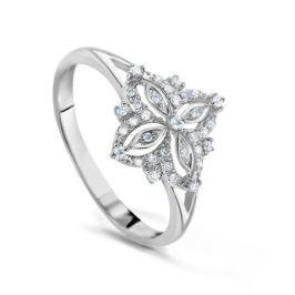 Кольцо с бриллиантами из белого золота VALTERA 53795