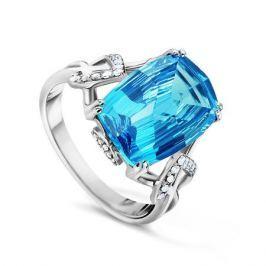 Кольцо с бриллиантами и топазами из белого золота VALTERA 53452