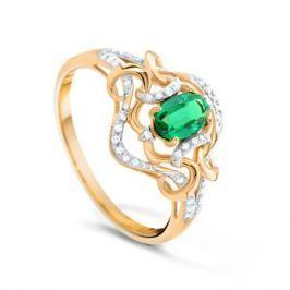 Кольцо с изумрудами и бриллиантами из розового золота VALTERA 90611