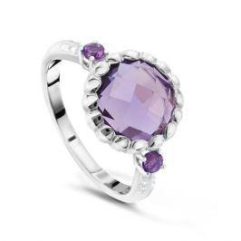 Кольцо с аметистами и бриллиантами из белого золота VALTERA 48043