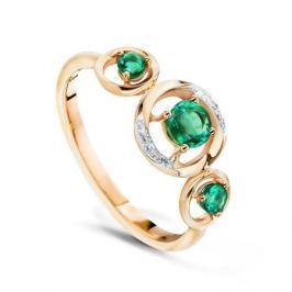 Кольцо с изумрудами и бриллиантами из розового золота VALTERA 54751