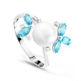 Кольцо с полудрагоценными камнями из белого золота VALTERA 60440