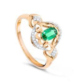Кольцо с изумрудами и бриллиантами из розового золота VALTERA 89983