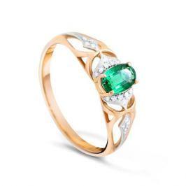 Кольцо с изумрудами и бриллиантами из розового золота VALTERA 89978