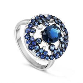 Кольцо с сапфирами и бриллиантами из белого золота VALTERA 65824