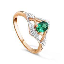 Кольцо с изумрудами и бриллиантами из розового золота VALTERA 92017