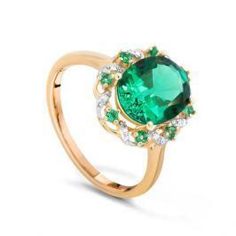 Кольцо с изумрудами и бриллиантами из желтого золота VALTERA 90065