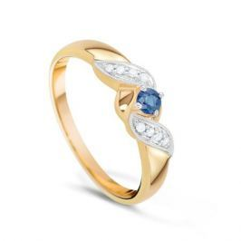 Кольцо с сапфирами и бриллиантами из розового золота VALTERA 17452