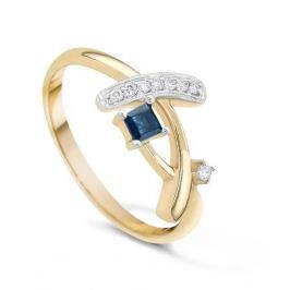 Кольцо с сапфирами и бриллиантами из розового золота VALTERA 19385
