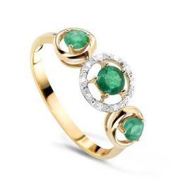 Кольцо с изумрудами и бриллиантами из розового золота VALTERA 54745