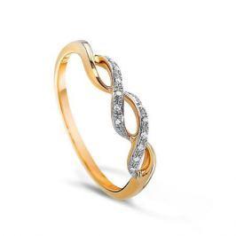 Кольцо с бриллиантами из розового золота VALTERA 63604