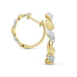 Серьги с бриллиантами из желтого золота VALTERA 73992