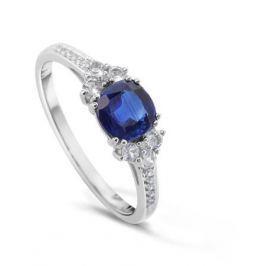 Кольцо с полудрагоценными камнями из белого золота VALTERA 48846