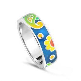 Кольцо с эмалью из серебра VALTERA 79443