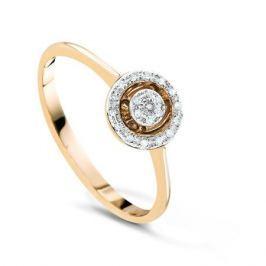 Кольцо с бриллиантами из розового золота VALTERA 54267